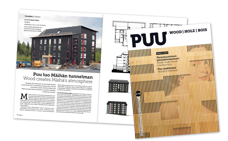 Mäihä was presented in the Puu Magazine - Architects a-live